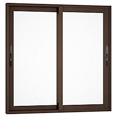 Ventana corredera aluminio premiun 60x60 cm madera