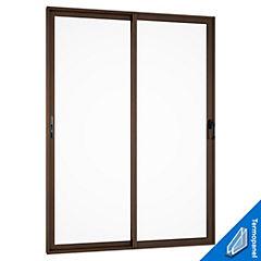 Puerta Aluminio 2 hojas 150x205 cm Titanio