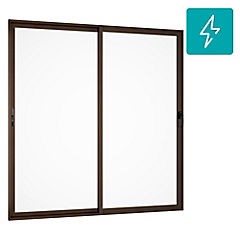 195x205cm Ventanal Aluminio madera