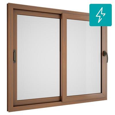Ventana corredera pvc premiun europeo termopanel 140x120 for Puertas correderas sodimac