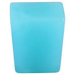 Perilla Cuadrado azul resina 22mm