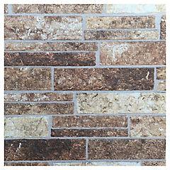 Revestimiento Muro 455 x 3030 mm Piedra Chocolate