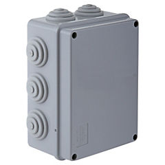 Caja estanca rectangular sobrepuesta 150x110x70 mm PVC