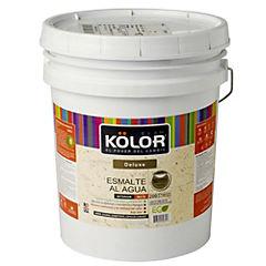 Esmalte al agua deluxe mate interior 5 gl blanco/pastel