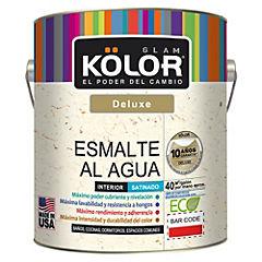 Esmalte al agua deluxe satinado interior 1 gl blanco/pastel
