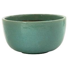 Macetero de cerámica 32x19 cm Azul