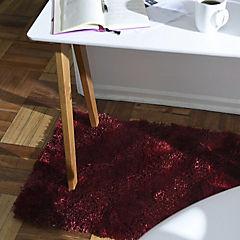 Bajada de cama shaggy Ondas 60x110 cm Roja