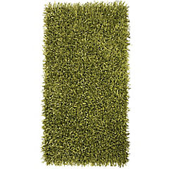 Bajada de cama shaggy Visco 60x110cm Verde