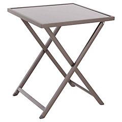 Mesa plegable Metal Vidrio 59x59x71
