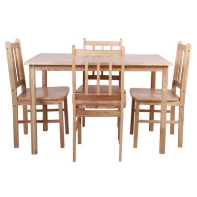 Comedor 4 sillas 114x71x75 oak for Sillas ergonomicas sodimac