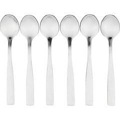 Set de cucharas para café acero inoxidable 6 unidades Plateado