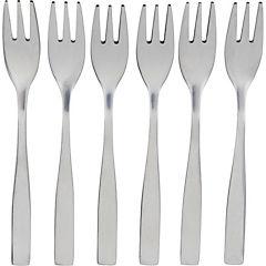 Set de tenedores para cóctel acero inoxidable 6 unidades gris
