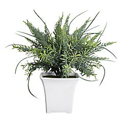 Planta artificial maceta blanca
