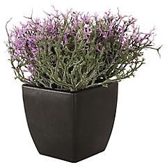 Planta artificial morada 13 x 8 x 13 cm
