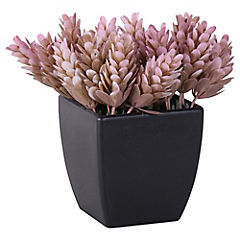 Planta artificial 13x8x13 cm con macetero