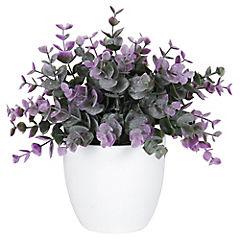 Planta artificial morada 18 x 15 x 18 cm