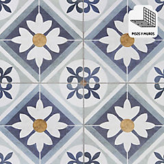 Cerámica 45 x 45 cm Flower Blue 2.08 m2