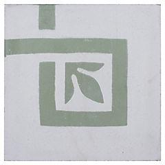 Baldosa Decorativa Esquina 21 x 21 cm Guarda Azteca 0.16 m2