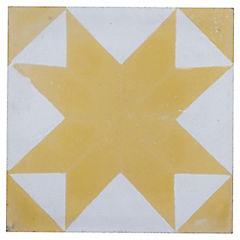 Baldosa Decorativa 21 x 21 cm Cruz de Malta 0.48 m2