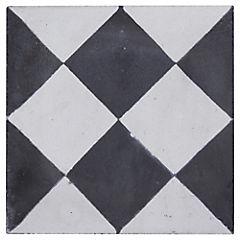Baldosa Decorativa 21 x 21 cm Rombo Negro 0.48 m2
