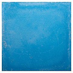 Baldosa 21 x 21 cm Lisa Azul 0.48 m2