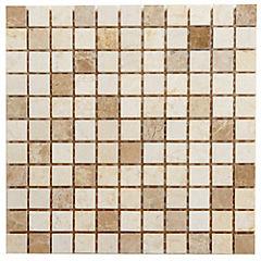 Malla Mosaico 30.5 x 30.5 cm Cristal Piedra