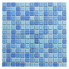 Malla Mosaico 30.5 x 30.5 cm Sea Blue Cristal