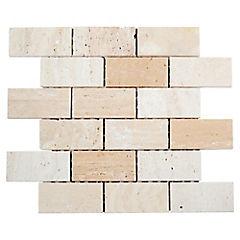 Malla Mosaico 30.5 x 30.5 cm Mármol Rectangular