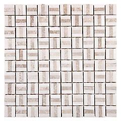 Malla Mosaico 30.5 x 30.5 cm Mármol Pucket