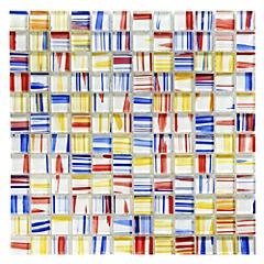 Malla Mosaico 30 x 30 cm Cristal Rainbow