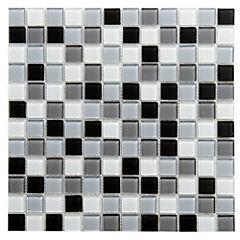 Malla Mosaico 30 x 30 cm Vidrio Natura/Humo