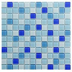 Malla Mosaico 30 x 30 cm Vidrio Feel Blue