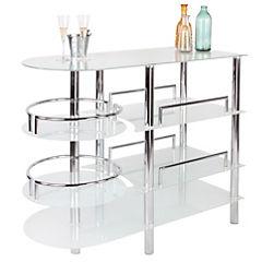Mesa Bar vidrio templado 127x55x108 cm