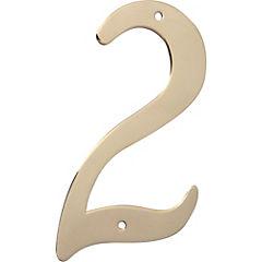 Número para casa bronce brillante N°2