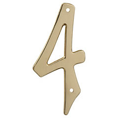 Número para casa bronce brillante N°4