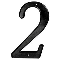 Número para casa fierro negro N°2
