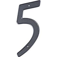 Número para casa fierro negro N°5