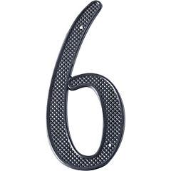 Número para casa fierro negro N°6