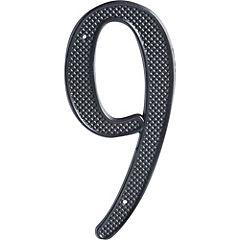 Número para casa fierro negro N°9
