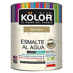 Esmalte al agua semibrillo interior 1/4 gl blanco/pastel