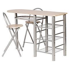 Juego de comedor 2 sillas blanco