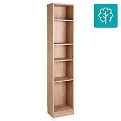 Librero Basic 4 Repisas 40x27x204 cm Oak