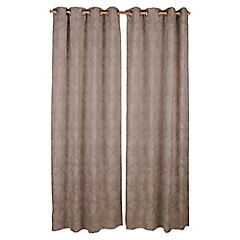Set de cortinas Flores 230X135 cm 2 paños chocolate