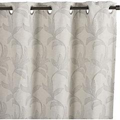 Set de cortinas Flores 250x135 cm 2 paños chocolate