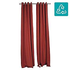Set de cortinas Lucca 140x250 cm 2 paños terracota