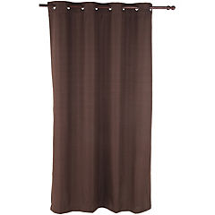 Cortina Black Out texturada 140x220 cm chocolate