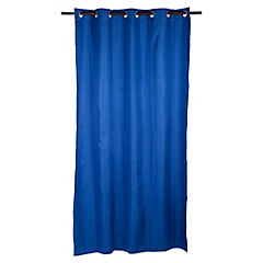 Cortina Black Out texturada 140x220 cm azul