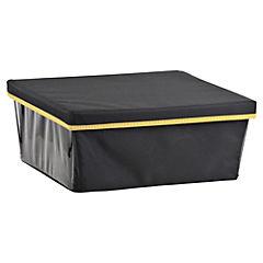 Caja de Tela con Tapa 42 x 36 x 17 cm Amarilla