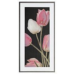 Cerámica 25 x 50 cm Conjunto Thai Negro Tulipán 0.125 m2