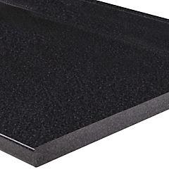 Cubierta para mes n de cocina 240x62 cm granito negro for Precio de granito negro